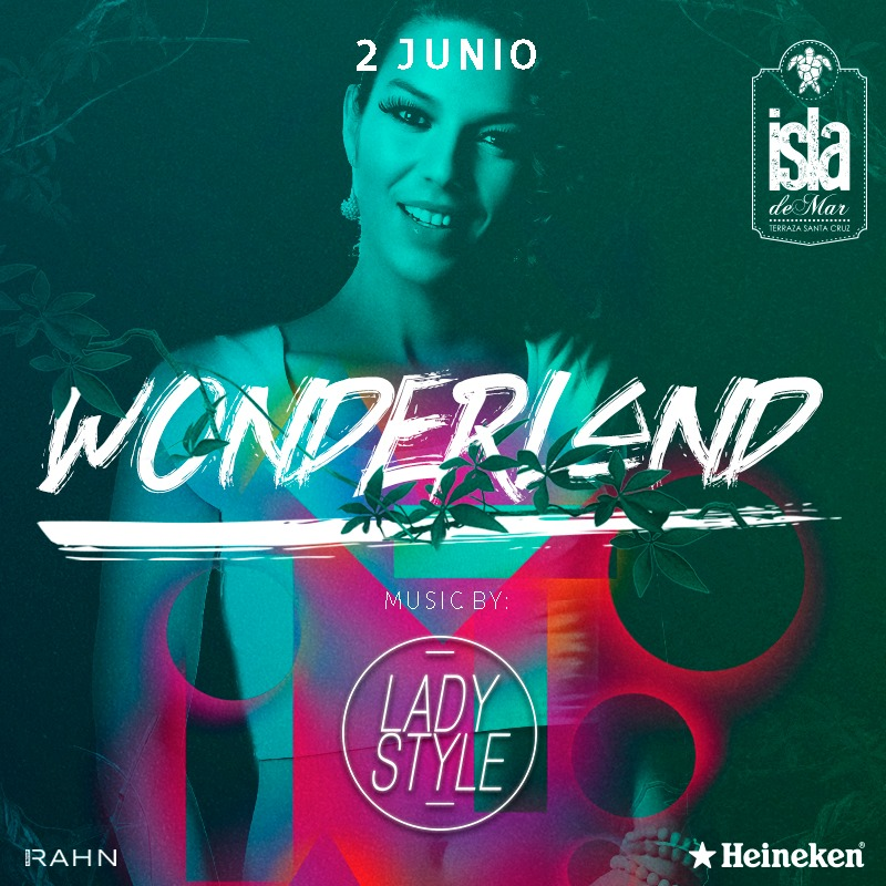 DJ Lady Style Wonderland Terraza Isla de Mar