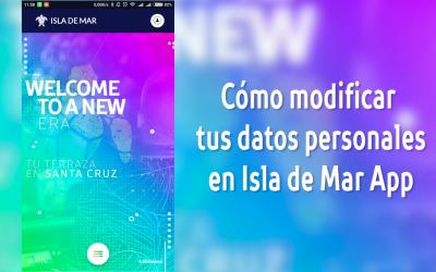 Isla de Mar App. ¿Cómo modificar tus datos personales?