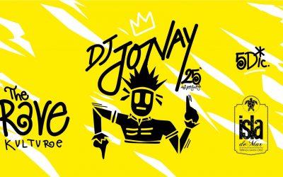 DJ Jonay ha elegido este año Terraza Isla de Mar para festejar sus 25 años de carrera
