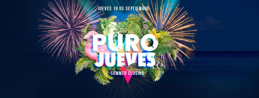 puro jueves summer closing terraza isla de mar