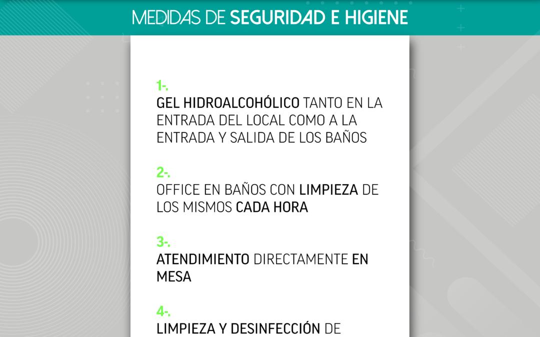 [Información] Medidas de seguridad e higiene durante el Terraceo by Terraza Isla de Mar